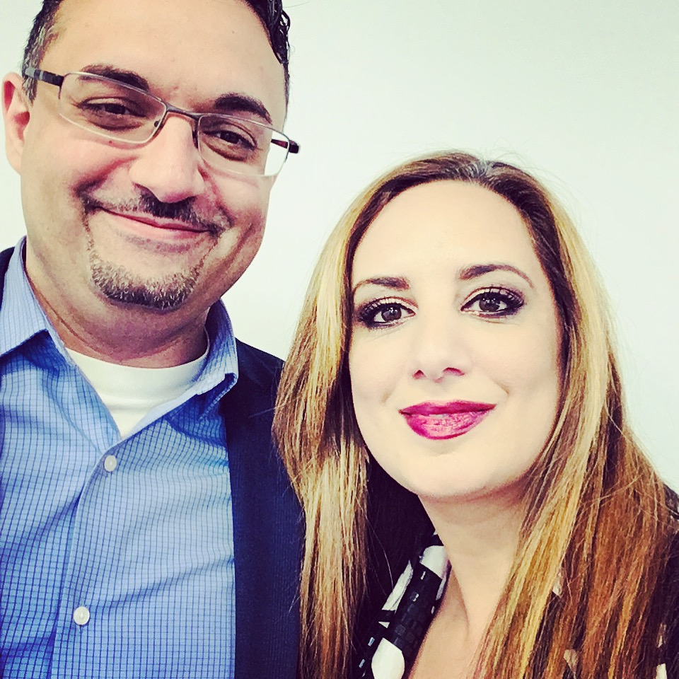 Tanya with Saeed El Darahali, CEO of SimplyCast